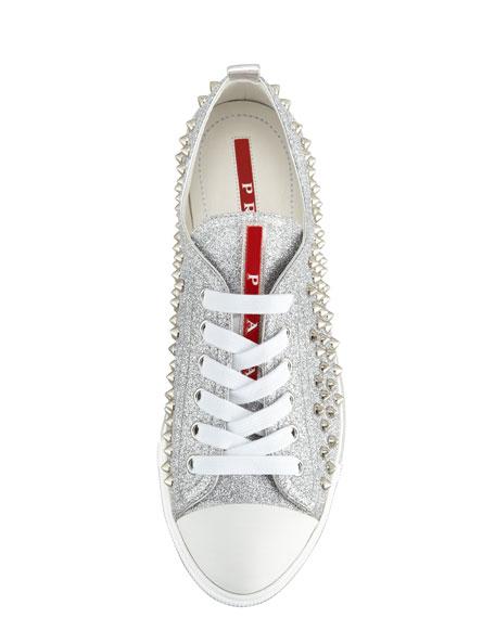 Studded Glitter Sneaker