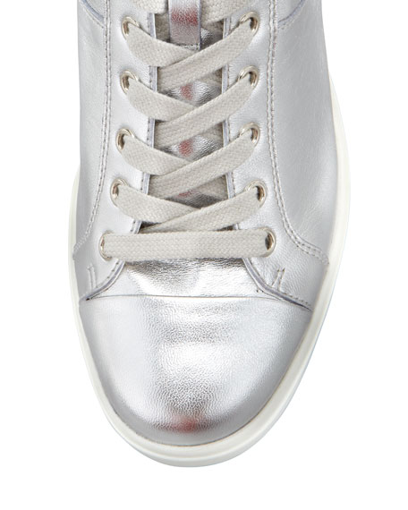 Metallic Hi-Top Sneaker, Silver