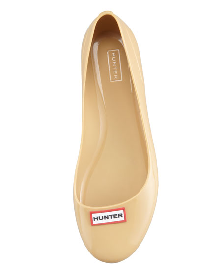 Romilly Weatherproof Logo Ballerina Flat, Camel