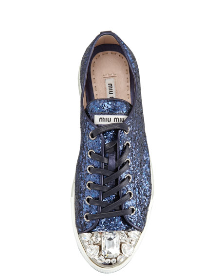 Jeweled Cap Toe Sneaker