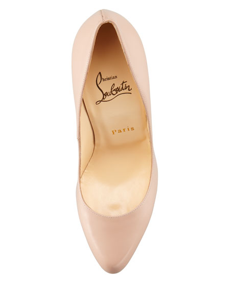 Decollete Jazz Red Sole Pump, Nude