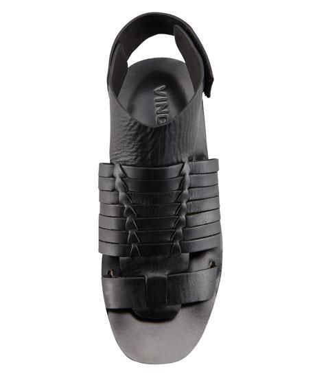Calista Huarache Thong Slide Sandal, Black