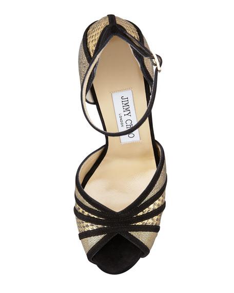 Kafta Shimmer Snake Sandal