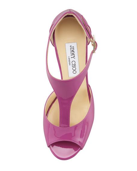 Tribe Patent T-Strap Sandal