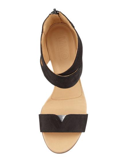 Crisscross Suede Wedge Sandal
