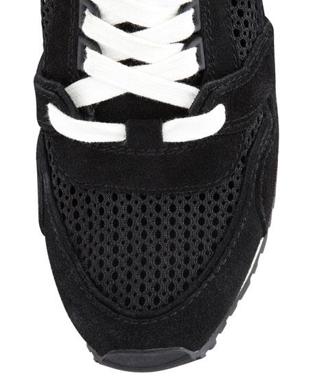 Dean Wedge Sneaker, Black