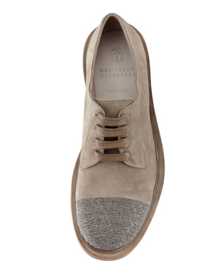 Monili Cap-Toe Oxford, Light Taupe