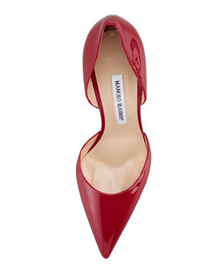 Tayler Patent Pointed d'Orsay, Raspberry