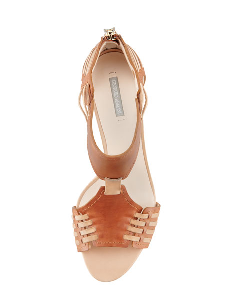 Laced Panel Sandal
