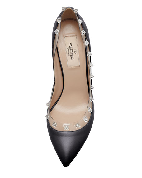 Rockstud Naked Pump, Black