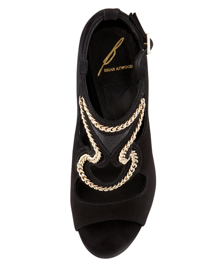 Lollita Chain-Trim Cutout Sandal