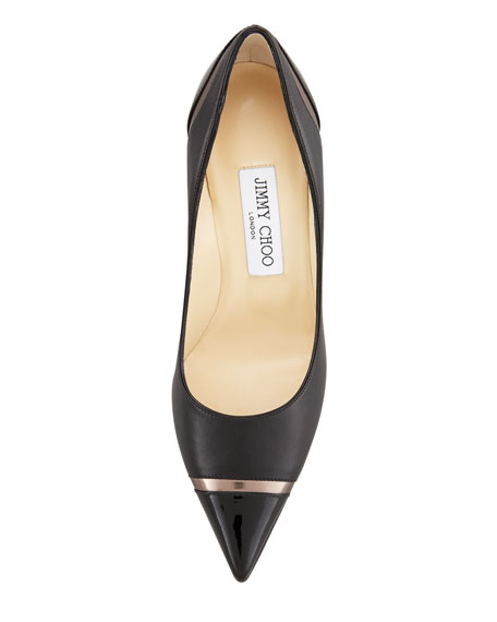Lilo Cap-Toe Pump, Black/Pewter