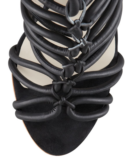 Clementine Strappy To-the-Knee Sandal Boot