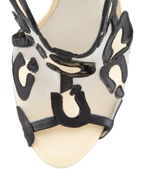 Blake Leopard Mesh Tie Sandal