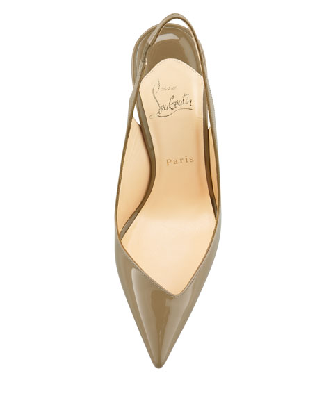 Flueve Pointed-Toe Slingback Pump, Grege
