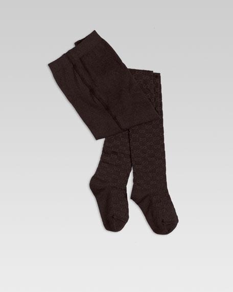 Reggie Contrast Interlocking GG Knit Tights