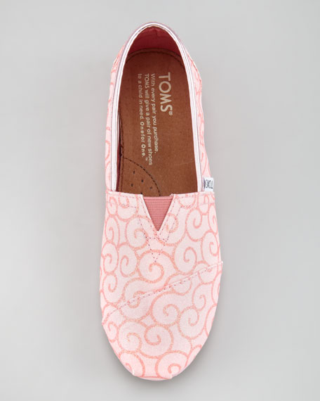 Glitter Swirl Slip-On, Youth