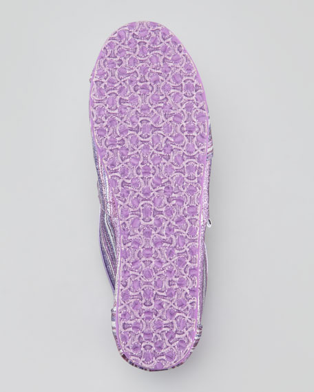 Youth Classic Glitter Striped Slip-On, Purple