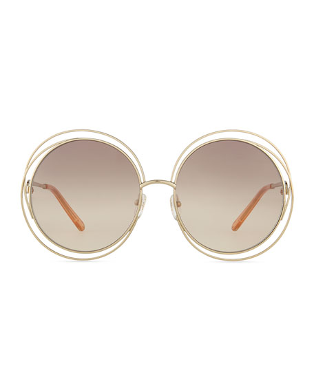 Carlina Round Wire Metal Sunglasses