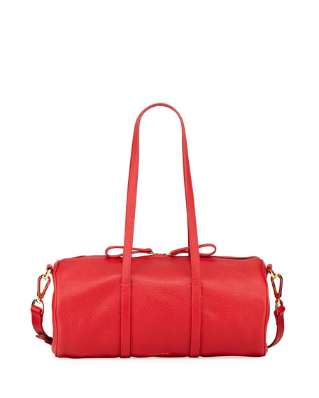 Image 1 of 1: Pebbled Leather Mini Duffel Bag