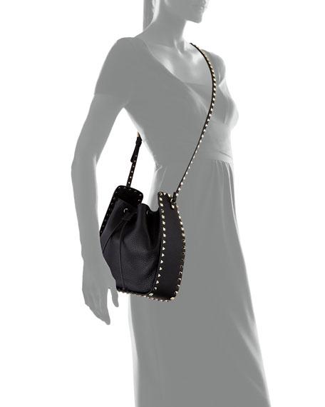 568bc40780 Valentino Garavani Rockstud Large Leather Bucket Bag