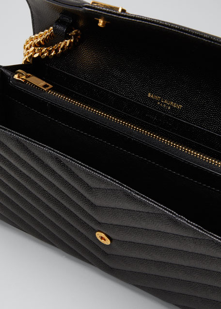 addb471959d Saint Laurent Monogram YSL Matelasse Wallet-on-a-Chain