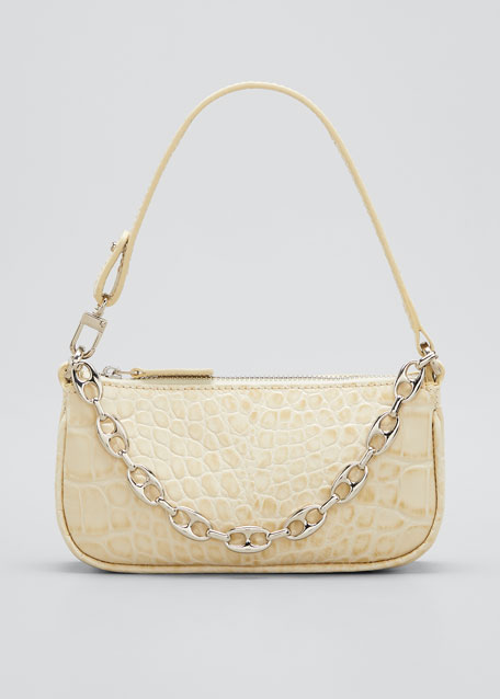 Image 1 of 1: Rachel Mini Mock Croc Leather Shoulder Bag