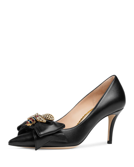 Queen Margaret Leather Pump