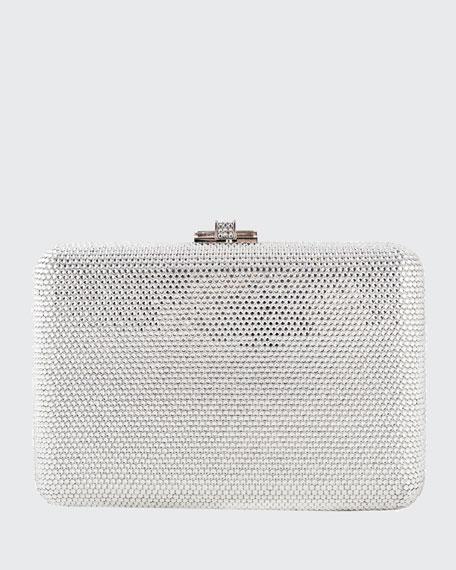 Slim Slide Crystal Evening Clutch Bag