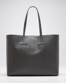 Saffiano Large Leather T Tote Bag by Tom Ford