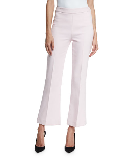 Cropped Flare-Leg Pants