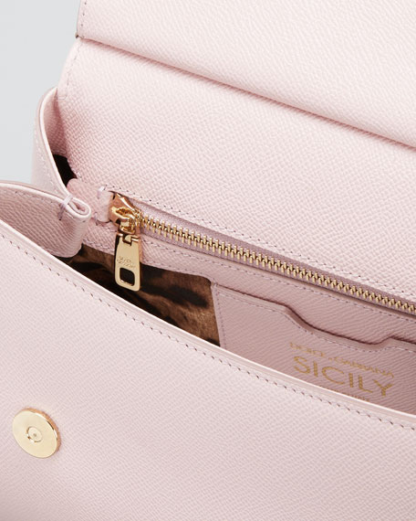 Sicily Medium Calf Leather Satchel Bag