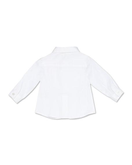 Stretch-Cotton Tuxedo Shirt, White, 3-36 Months