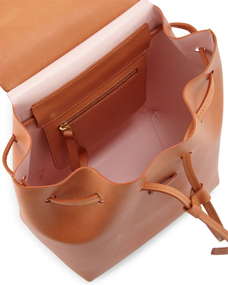 Vegetable-Tanned Leather Mini Backpack