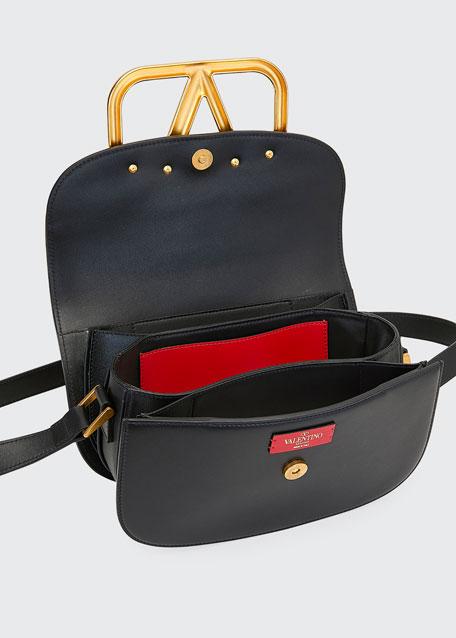 SuperVee Smooth Leather Shoulder Bag