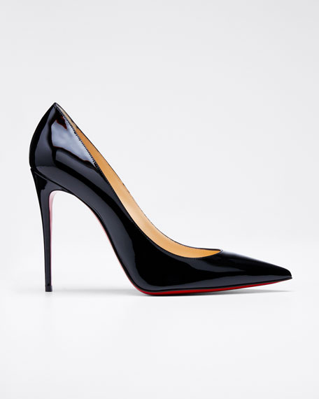 Image 1 of 1: Decollette Pointed-Toe Red Sole Pump