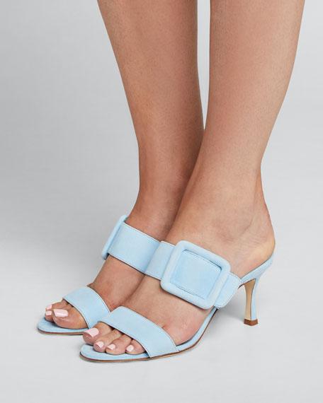 Gable Suede Slide Heeled Sandals