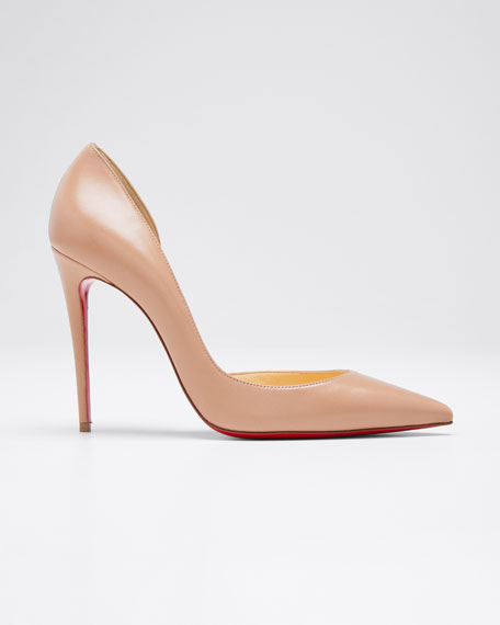 Iriza Half-d'Orsay 100mm Red Sole Pumps
