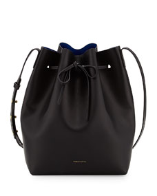 $595 Mansur Gavriel Vegetable-Tanned Leather Bucket Bag