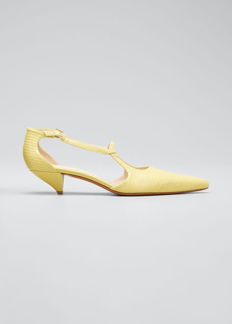 Image 1 of 1: Bourgeoisie Salome Lizard Pumps