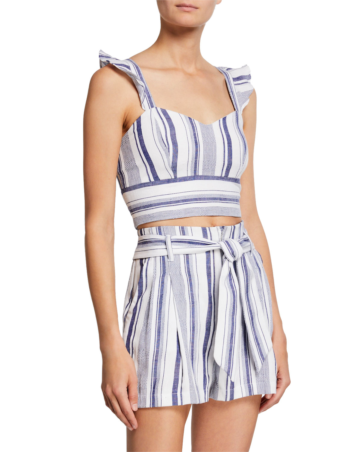 Parker Accessories Ibiza Sleeveless Striped Crop Top