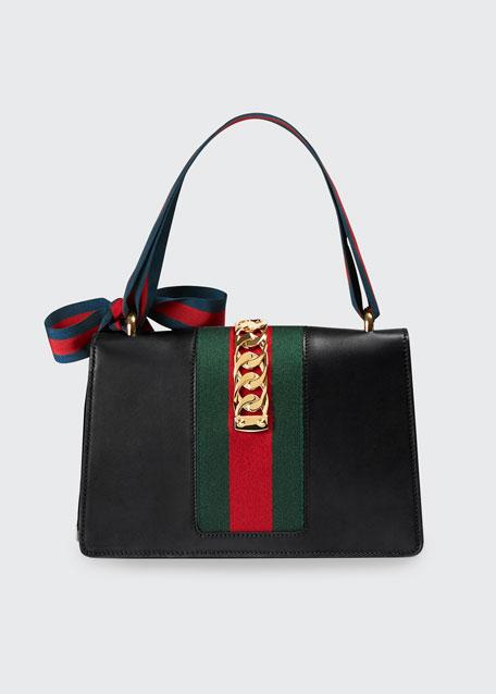 Sylvie Small Leather Shoulder Bag