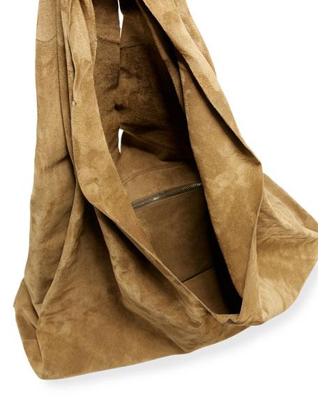 Bindle Knot Suede Hobo Bag