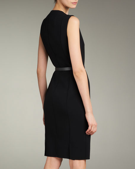 Zip-Front Double-Face Dress