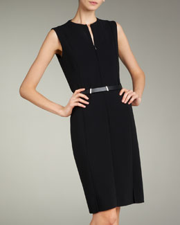 Akris Zip-Front Double-Face Dress