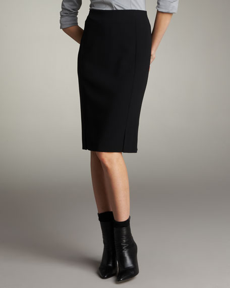 Double-Face Pencil Skirt