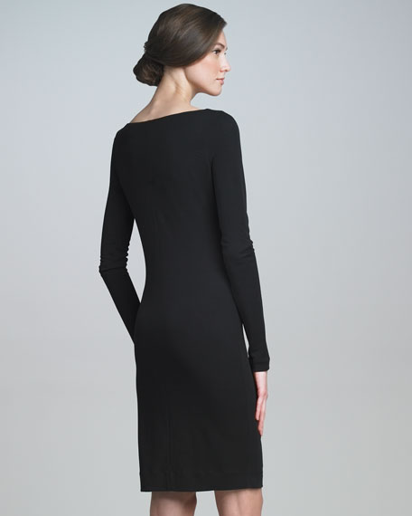 Long-Sleeve Sheath Dress