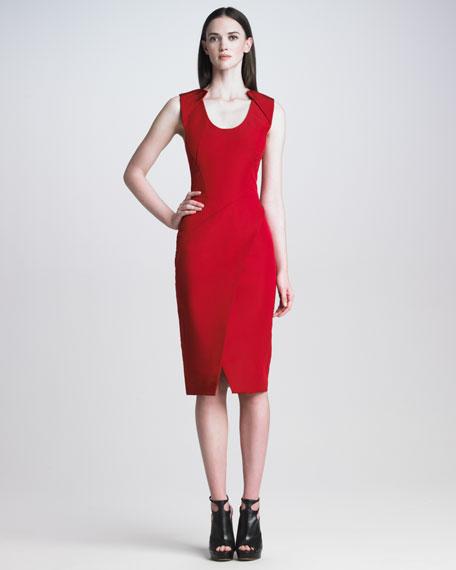 Sleeveless Silk Faille Dress