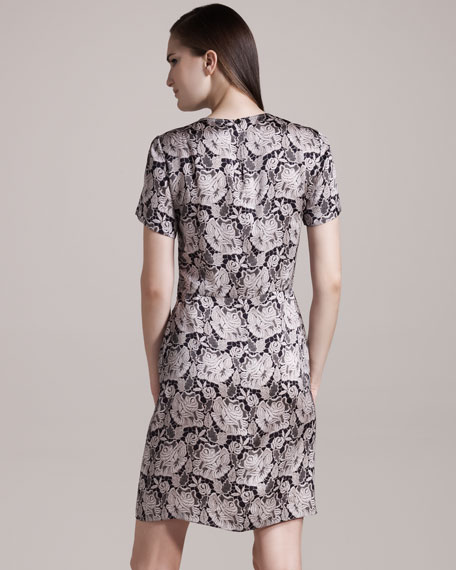 Penelope Lace-Print Dress