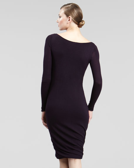 Twist-Hem Knit Dress